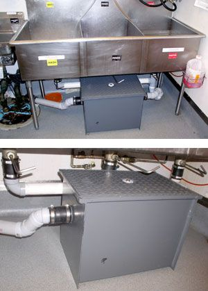 Grease Trap And Sink Photo And Grease Trap Close Up Photo