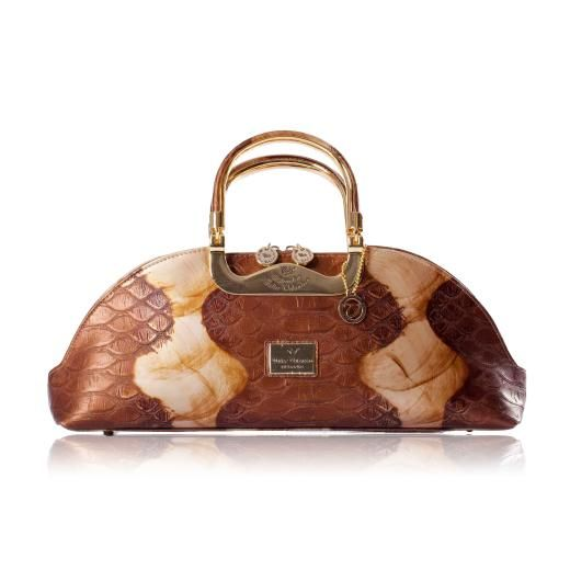 Walter Valentino Leather Handbag Z3838 Gold C 185 00 A Great Selection Of From Charlotte Reid London