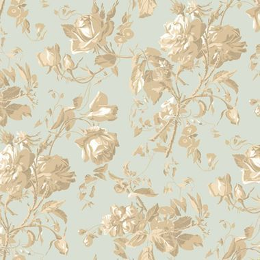 Gentle Manor Floral Trail Toile Pistachio Wallpaper GG4711