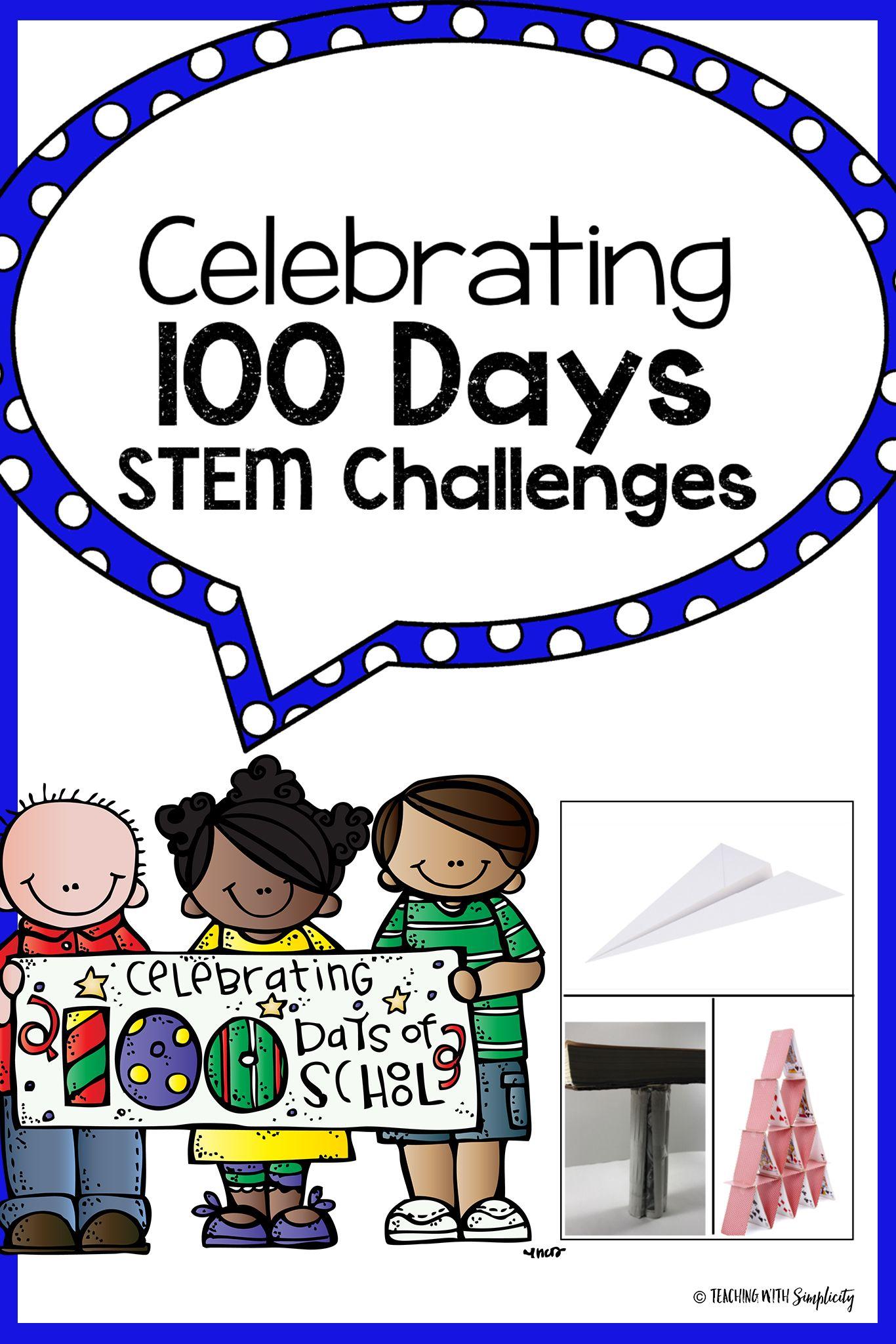 100 Days Of School Stem Challenges