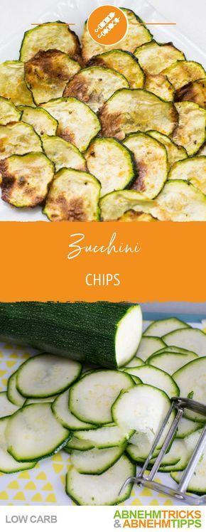 Zucchini-Chips - der gesunde und leckere Low Carb Snack #lowcarbyum