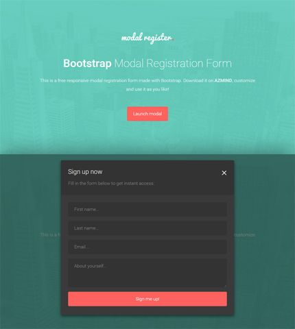 bootstrap-modal-registration-formsjpg (430×480) modal form - application form template free download