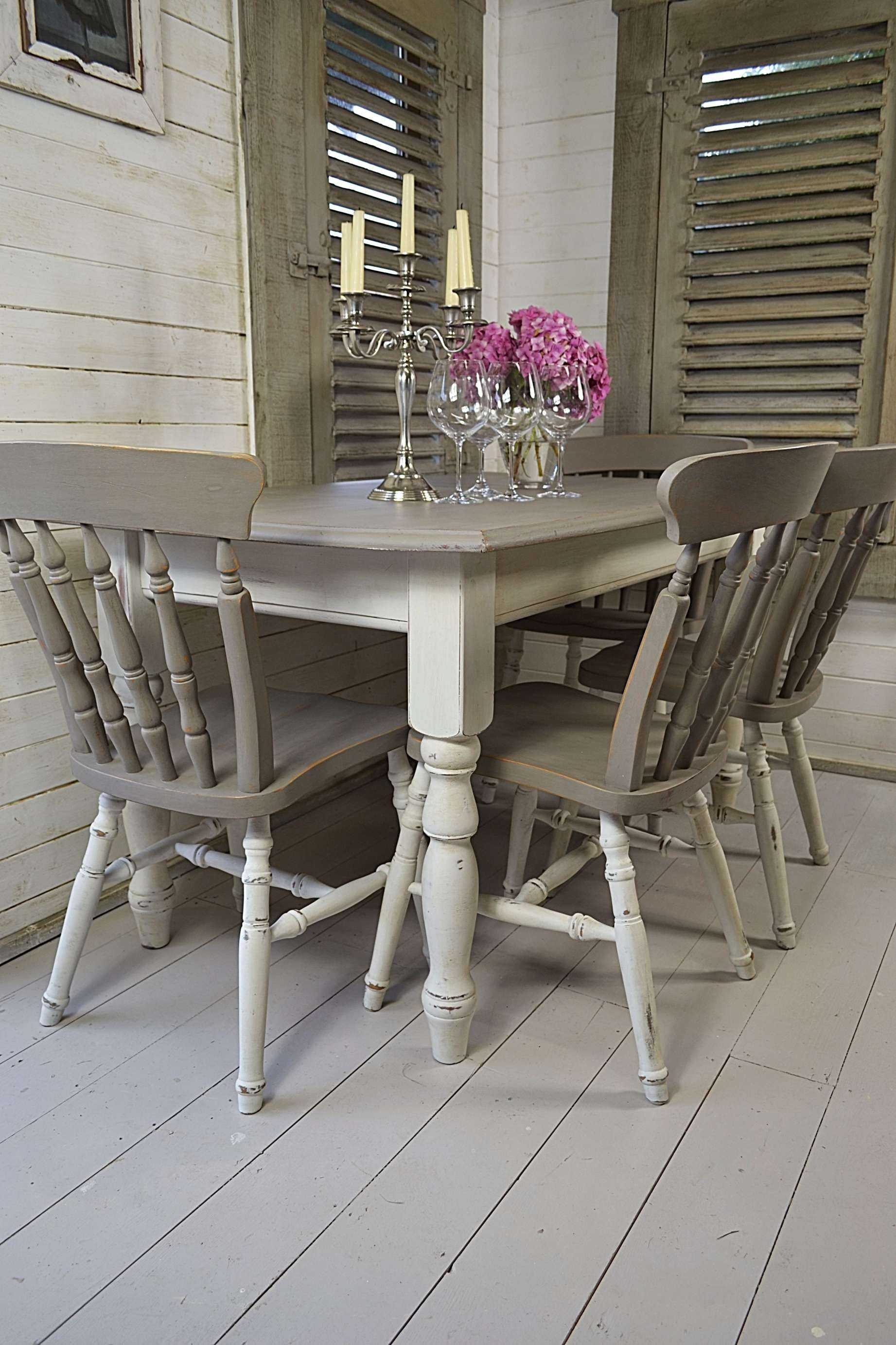 15 unique rustic or shabby chic white gray dining table collection check more at https on boho chic dining room kitchen dining tables id=45482