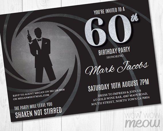 Party Bond Invitations Templates James