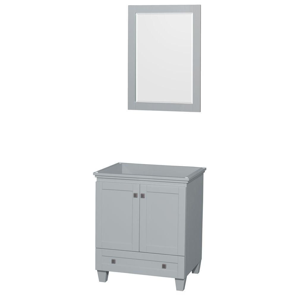 mirror size for 30 inch vanity. Acclaim 30 Inch Vanity Cabinet With Mirror In Oyster Grey  Inch