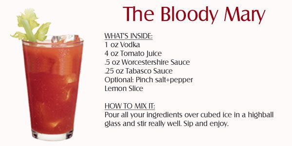 Bloody mary vodka cocktail recipes pinterest liquor cocktail bloody mary forumfinder Gallery