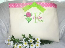Just Embroidered Totes, custom embroidered canvas totes, chic, trendy and affordable!