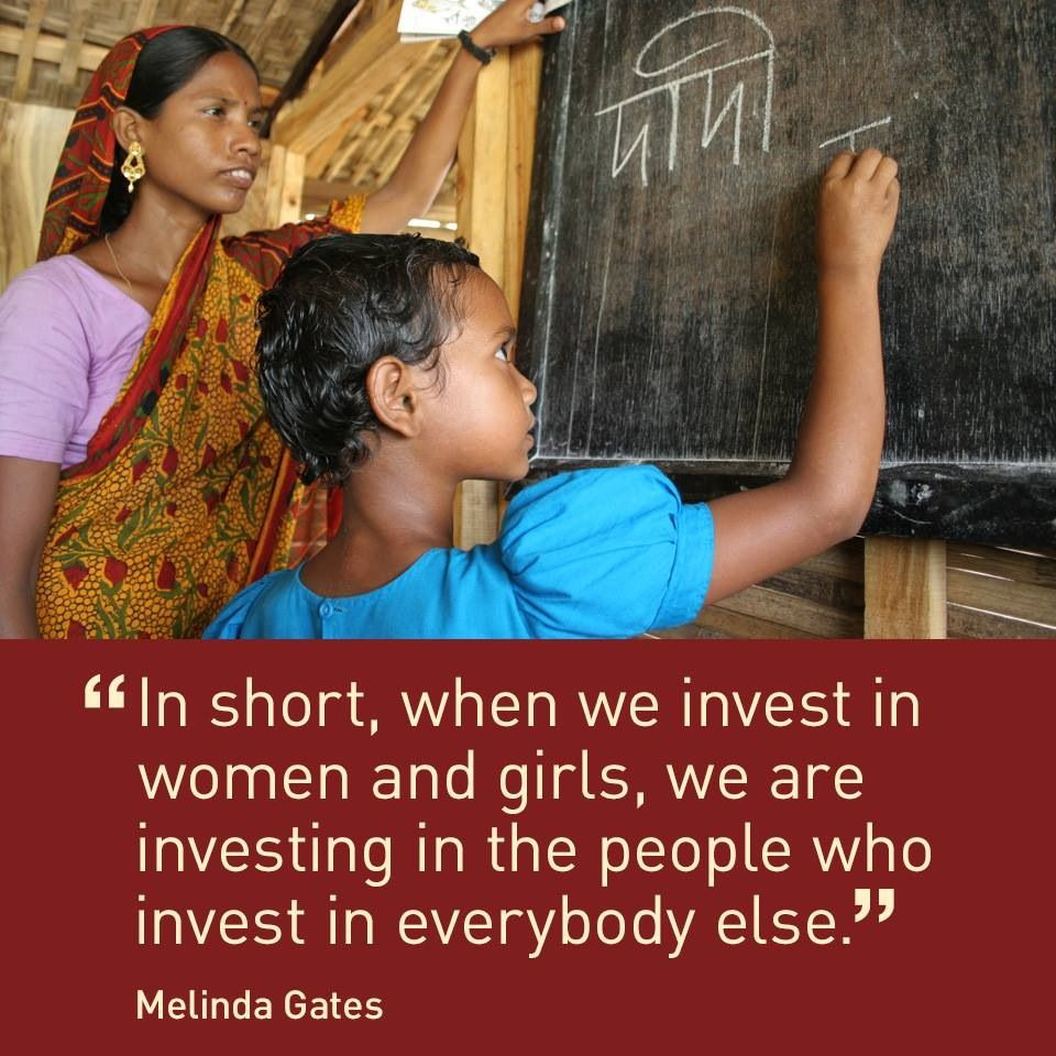 """Melinda Gates: """"In short, when we invest in women and girls, we are investing in the people who invest in everybody else."""" #EqualityMonday"""