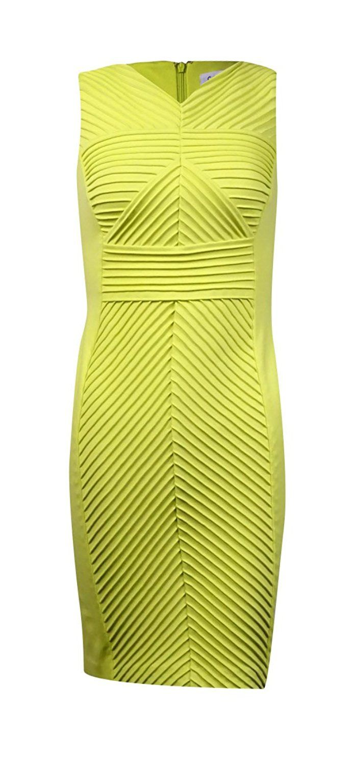 af92adc401478 Calvin Klein Women s Pintucked V-Neck Ponte Sheath Dress     See this great
