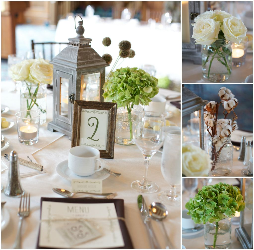 Rustic Elegant Wedding Decor I Like The Green Flowers And The