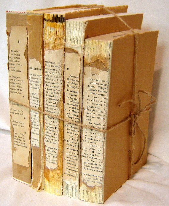 Old Books Decoration Rustic Book Decor Vintage Book Stack Wedding