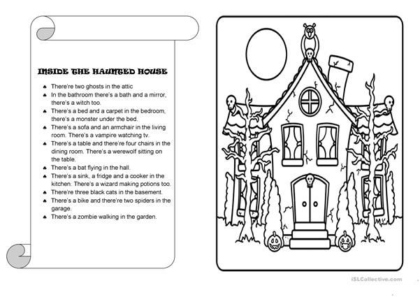 inside the haunted house to teach following directions activities following directions. Black Bedroom Furniture Sets. Home Design Ideas