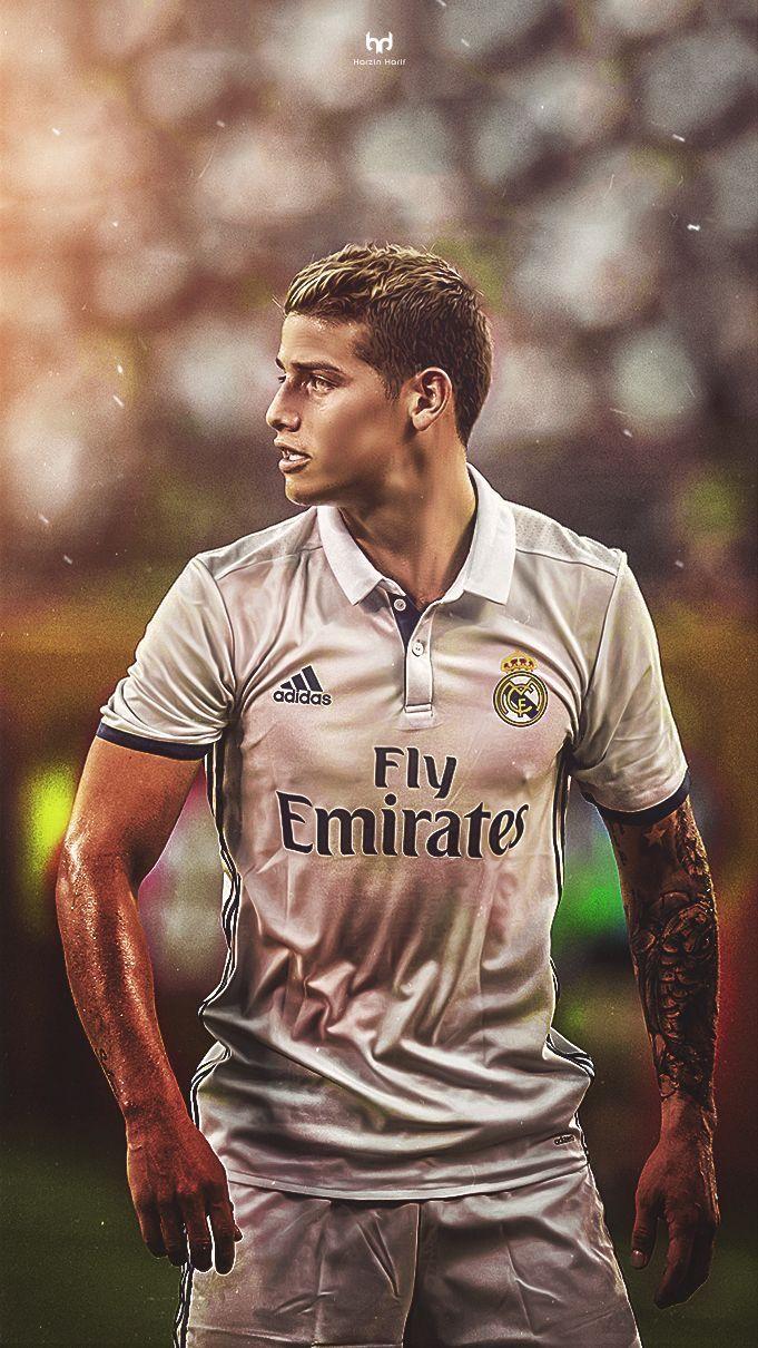 James Rodriguez.Real Madrid 16/17 home jersey.Ronaldo Bale ...