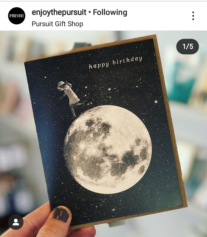 Birthday Card Handmade Abstract Card Retro Card