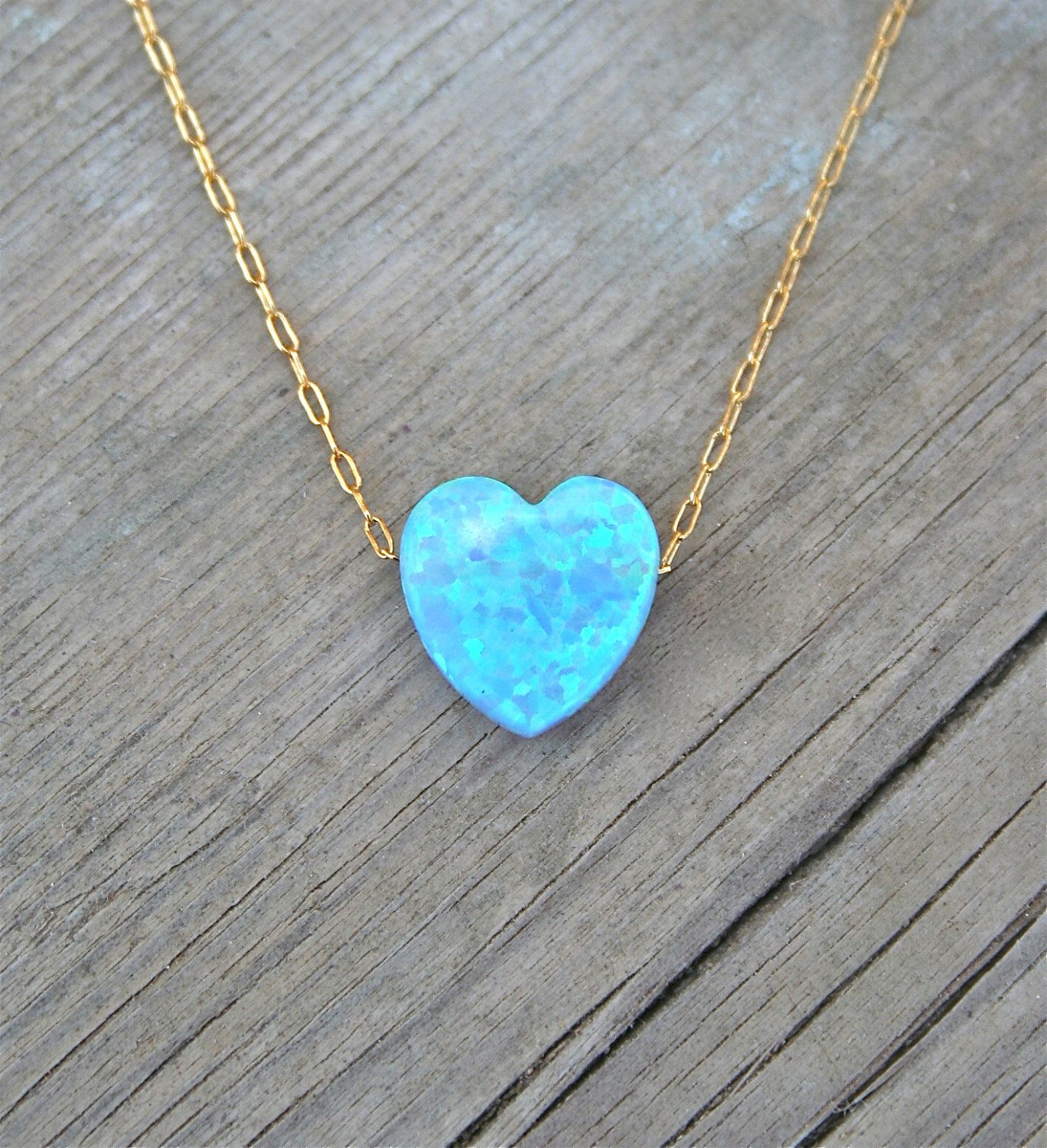 Heart necklace gold 14k gold filled chain blue heart necklace heart necklace gold 14k gold filled chain blue heart necklace opal jewelry designer necklace heart necklace womens jewelry necklace aloadofball Gallery