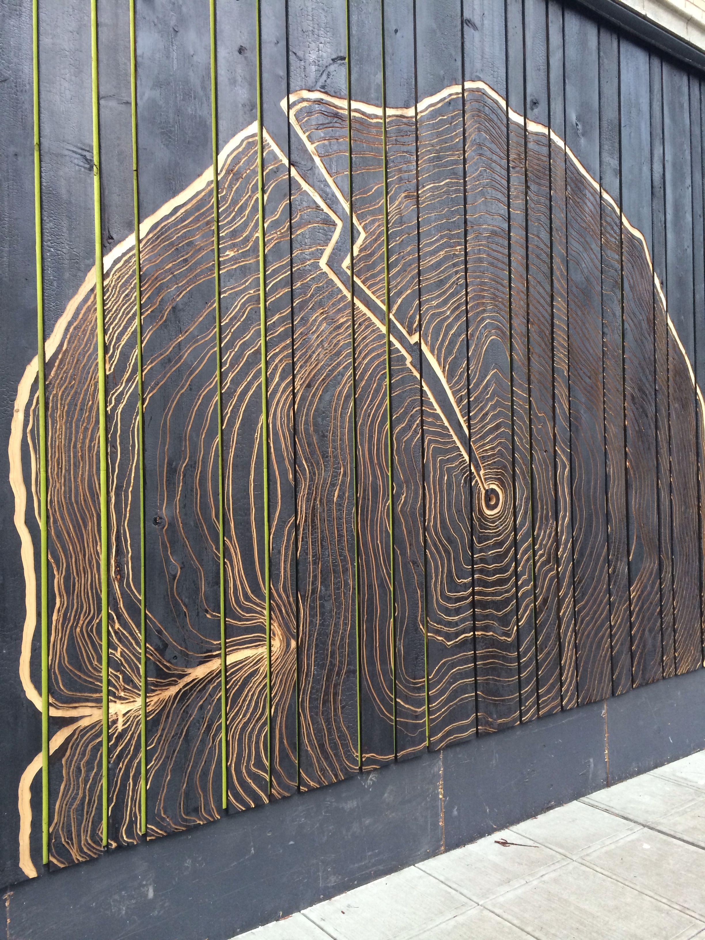 Charred Wood Wall In Seattle Charred Wood Ideas