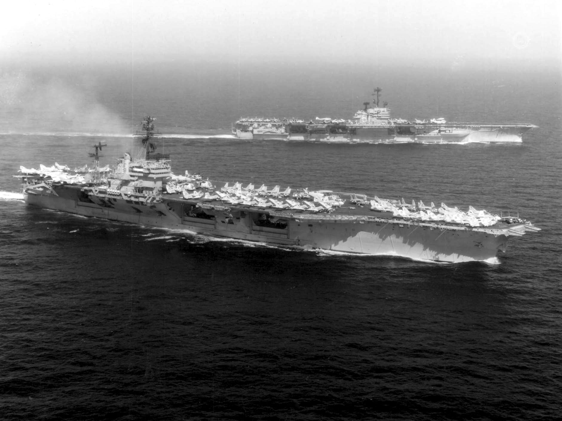 USS America (CVA-66) and Ranger (CVA-61) off Vietnam in 1973 - USS America (CV-66) - Wikipedia, the free encyclopedia
