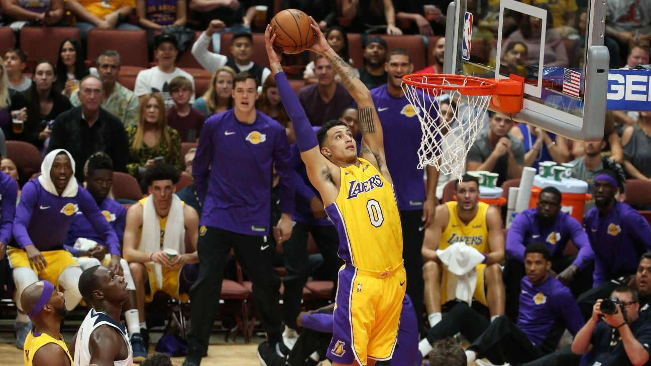 Image result for kyle kuzma dunk