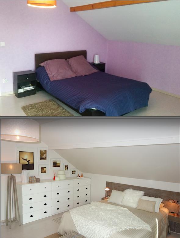 Expérience Déco by Acova et Emmanuelle Rivassoux : Avant/Après d'une chambre parentale casual et moderne #radiateur #chauffagecentral #contemporain #casual #deco #acova #acovafrance #homestagingavantapres