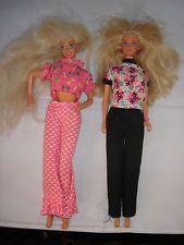 2 Alte Barbie Puppen 1966 Indonesia 1966 China Herst Mattel