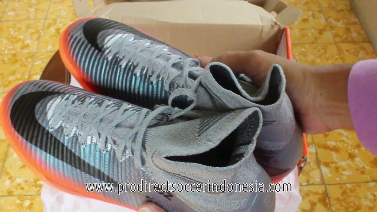 76a92a53f52 Sepatu Futsal Nike Mercurialx Proximo II CR7 IC Cool Grey 852538 001 Ori.