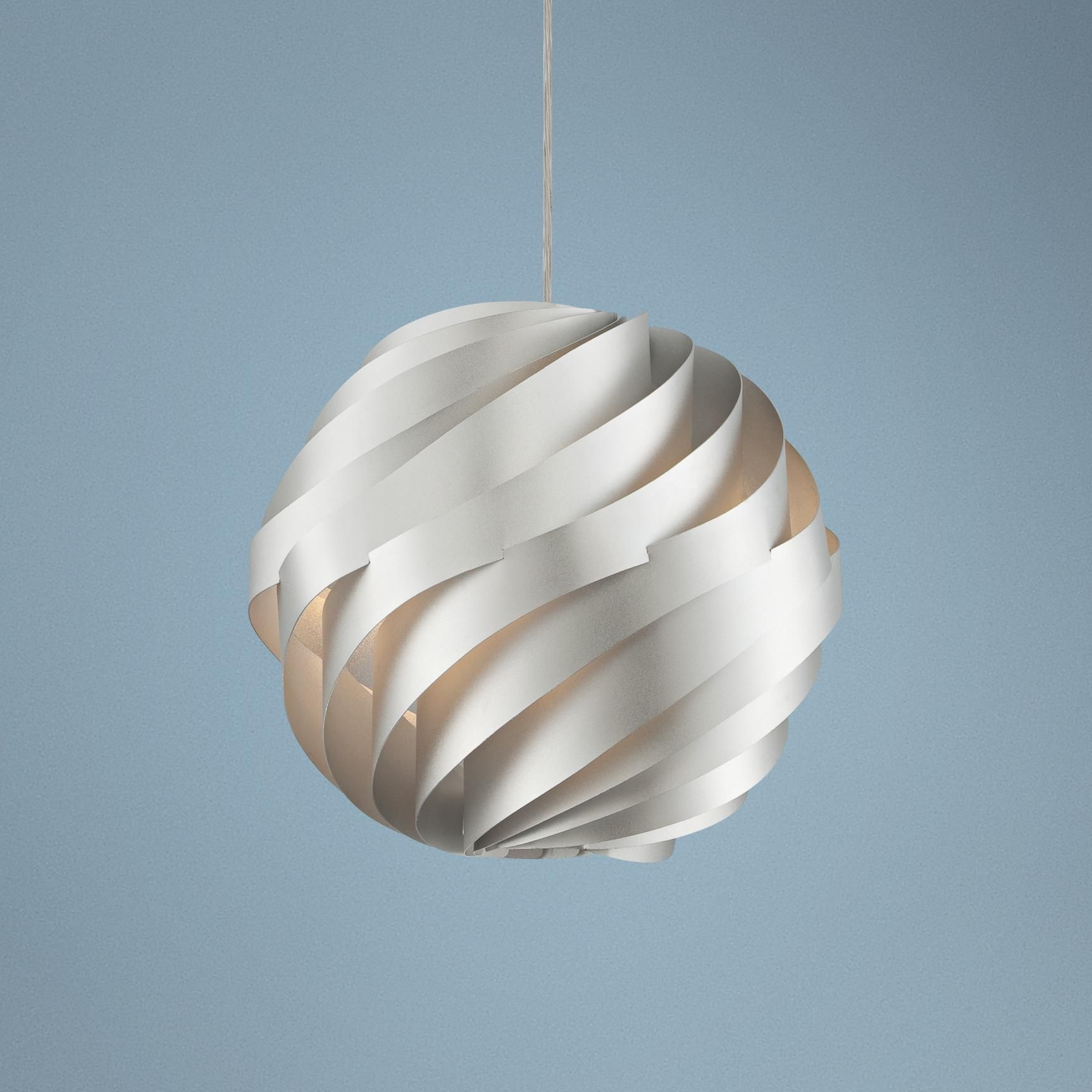 "Possini Euro Design Silver Waves 13 3/4"" Wide Pendant ..."