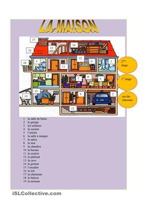 Les pi ces de la maison la maison pinterest de la for Je dessine ma maison