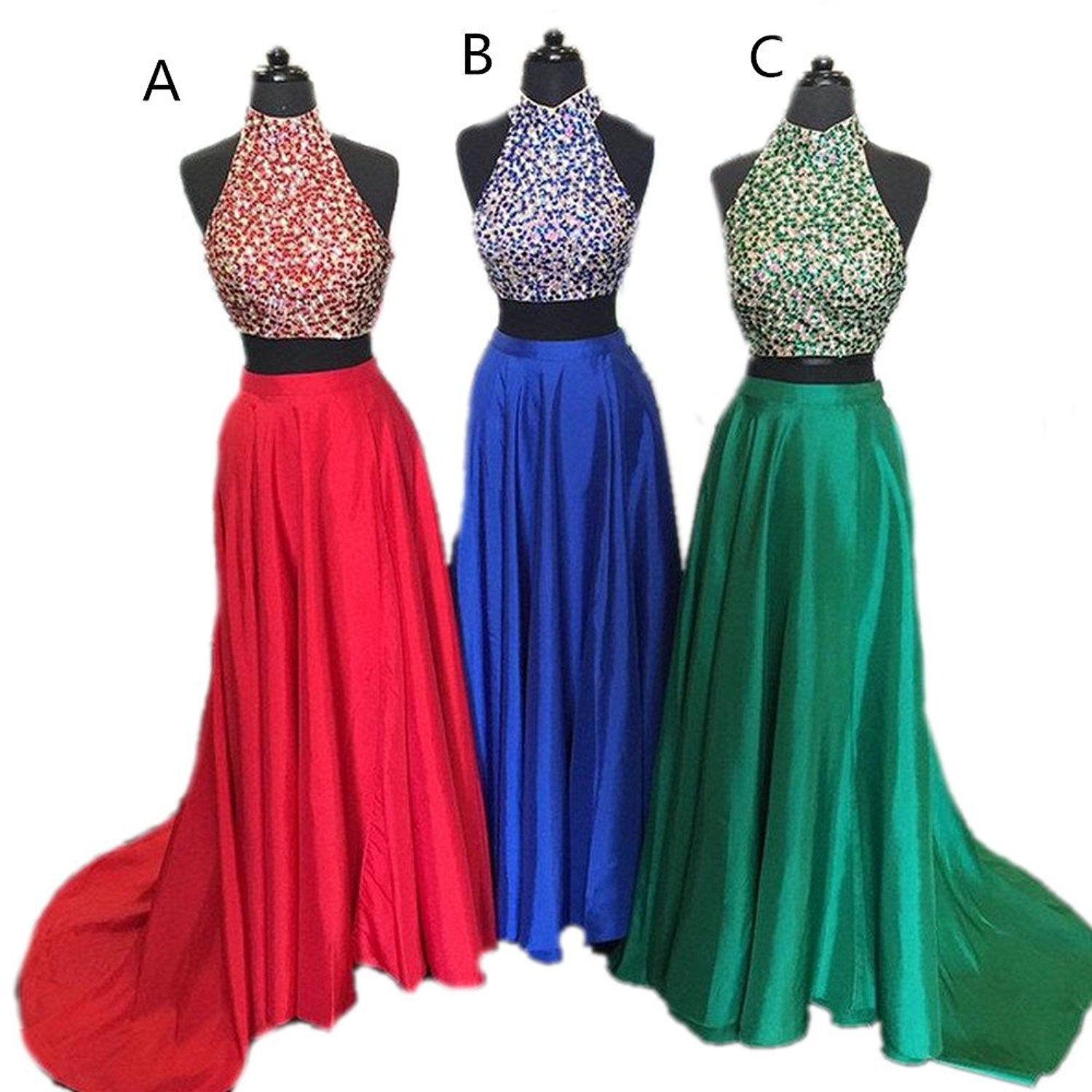 Drehouse womenus hater beaded crystal pieces prom dresses