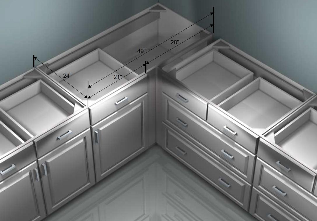 Ikea 49 Corner Cab Unmodified Corner Kitchen Cabinet Ikea Corner Cabinet Kitchen Base Cabinets