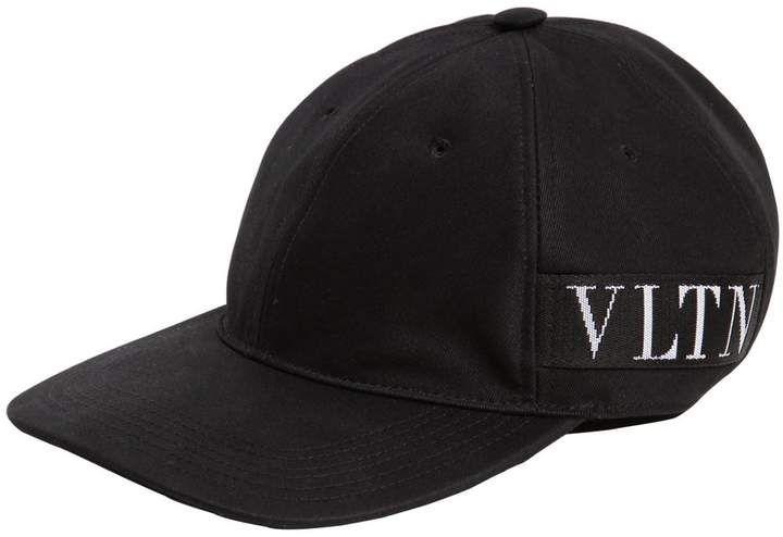 38c6ba5a Vltn Logo Cotton Canvas Baseball Hat   Caps   Baseball hats, Hats ...