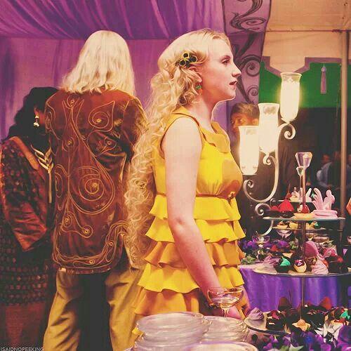 Harry Potter World Wedding: Luna Lovegood At Bill And Fleur's Wedding. Her Yellow