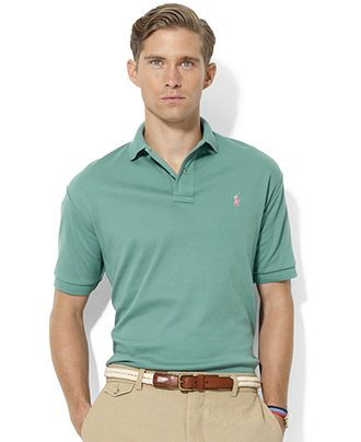 Polo Ralph Lauren Shirt, Classic-Fit Interlock Polo Shirt - Polos - Men -