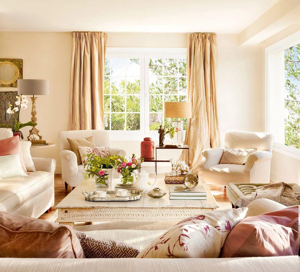 Colore pareti soggiorno • Idee per cambiare stile | Coastal ...