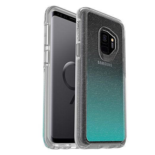 608ba6770e OtterBox SYMMETRY CLEAR SERIES Case for Samsung Galaxy S9 - Frustration  Free Packaging - ALOHA OMBRE (SILVER FLAKE/CLEAR/ALOHA OMBRE)