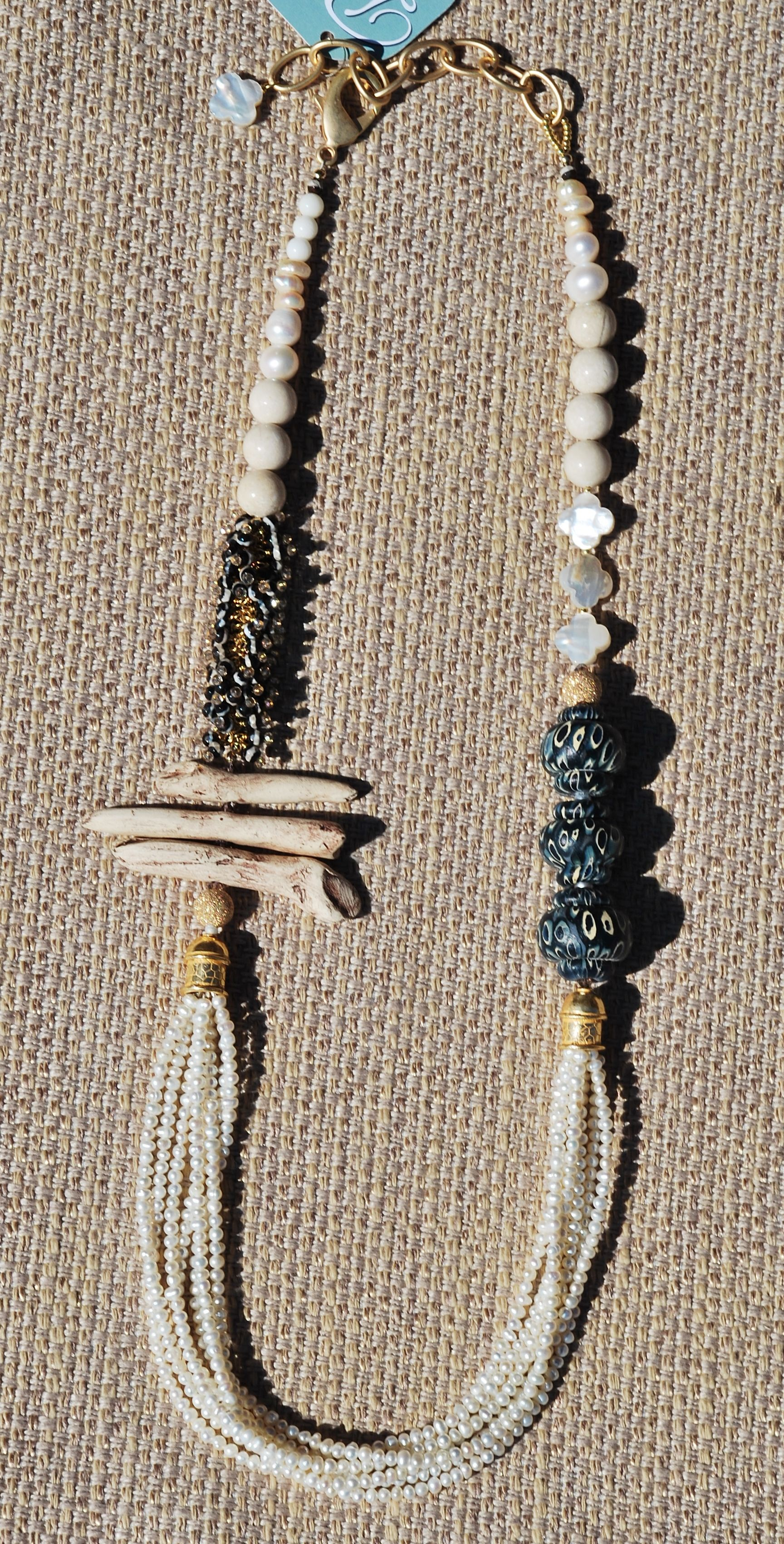 Pearl And Bone Necklace Beadsinc Com Necklaces