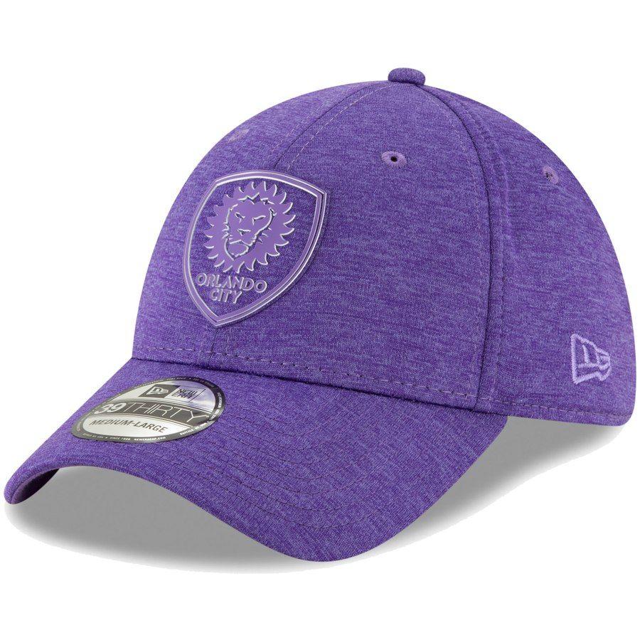 100% top quality famous brand good selling Men's Orlando City SC New Era Purple Logo Shade 39THIRTY Flex Hat ...