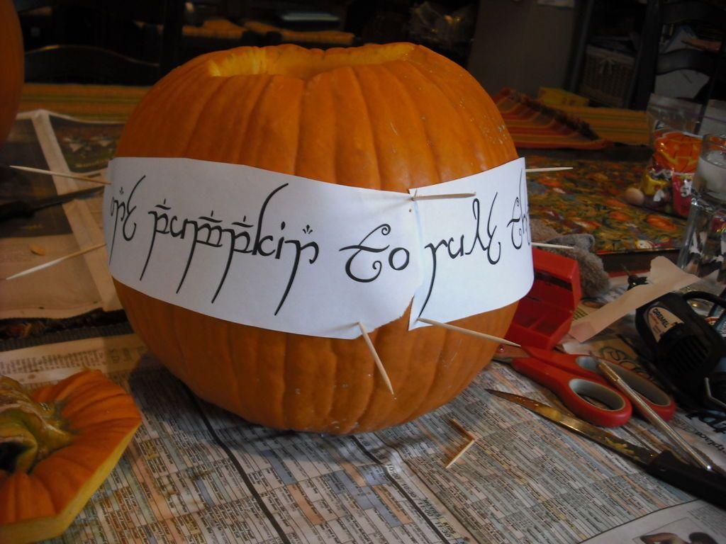 Lord Of The Rings Inspired Pumpkin Pumpkin Carving Pumpkin Carving Templates Pumpkin