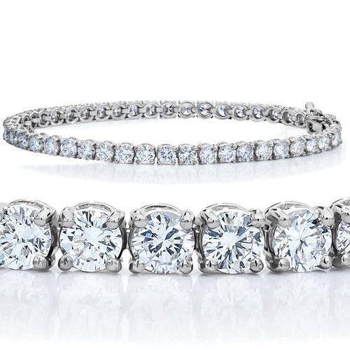 Birthday Gifts    Brilliant 9.60TCW Russian Lab Diamond Tennis Bracelet Rhodium Anniversary Birthday Wedding Gift