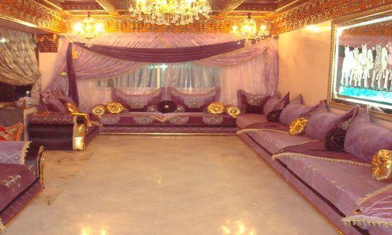 Salon Marocain Traditionnel (Mauve et touche de Doré) de Hasnae.com ...