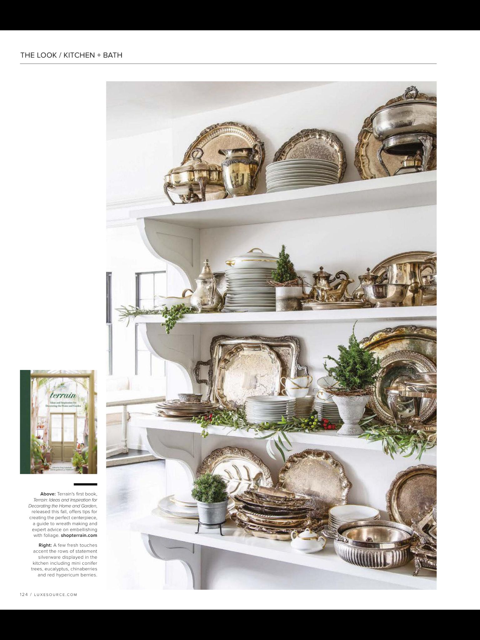 """""""KITCHEN + BATH"""" from Luxe, National Nov/Dec 2018. Read it"""