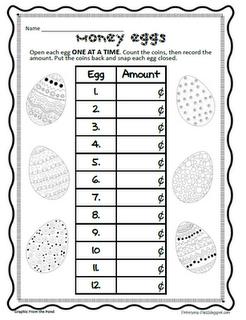 Easter Math Easter Math Money Math Math