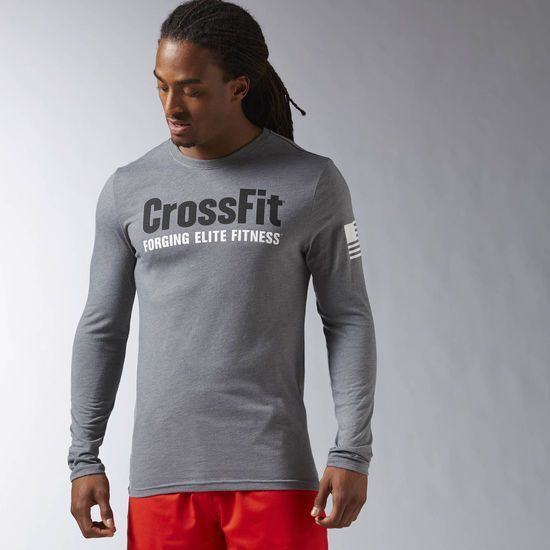 Reebok CrossFit Forging Elite Fitness Long Sleeve Tee - Grey