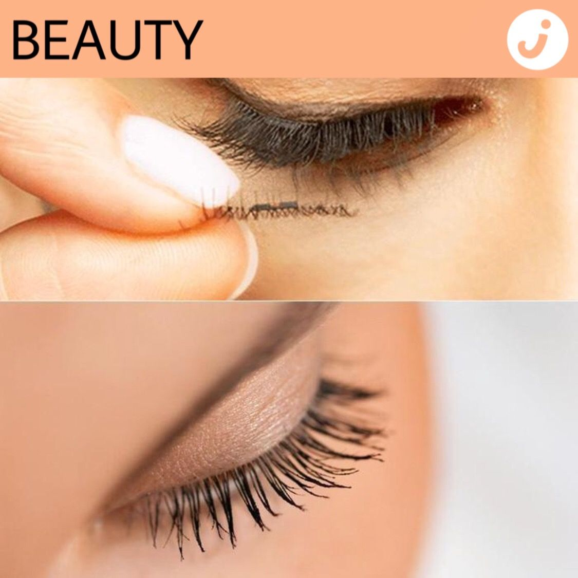 how to apply magnetic lashes with tool