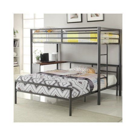 Bundle 80 Wildon Home Twin Over Full L Shaped Bunk Bed Walmart
