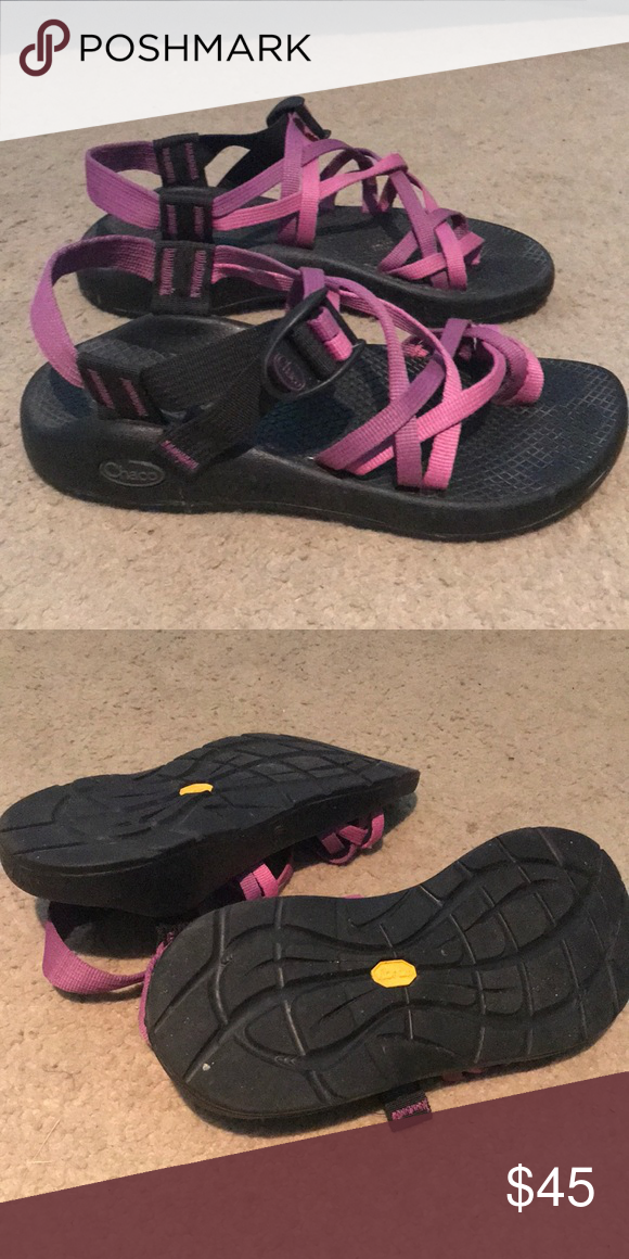 a77676b7988f Chacos Purple and pink double strap. Worn maybe 5 times. Absolutely no  flaws. Chaco Shoes Sandals