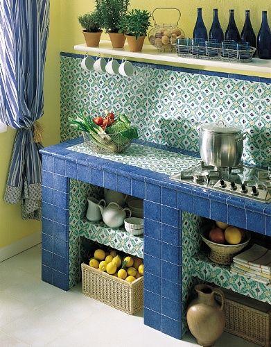 rivestimenti-cucina-ceramica-quadrato-interni-vietri-antico-i ... - Ceramica Cucina