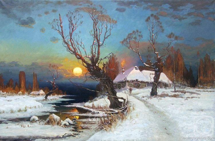 Yagliboya Kar Resimleri Soyut Resim Tuval Resimler Soyut Resim