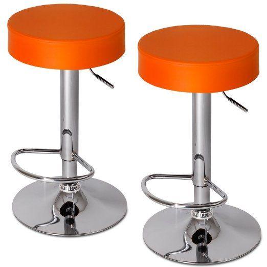 jago lbhk06 2 bar stools different colours orange