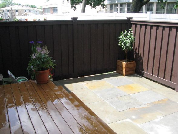 my townhouse backyard oasis, contemporary yard with flagstone ... - Small Townhouse Patio Ideas