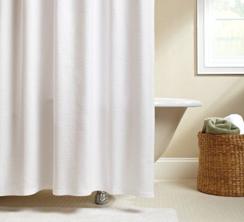 Pinzon Signature Diamond Matelasse Shower Curtain White By Amazon